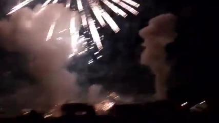 Експлозия!!! при изстрелване на фойерверки