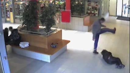 Спукаха от бой младеж в мол, всички гледат сеир