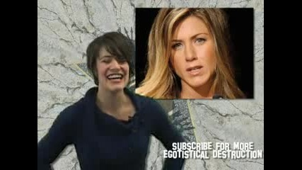 Jennifer Aniston Angelina Jolie Catfight