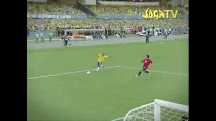 Бразилски Отбор Играе Самба