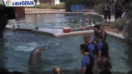Делфин вкара на Виктор Валдес
