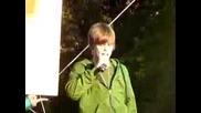 Justin Bieber quotbiggerquot Live at the Microsoft Store Concert Mission Viejo