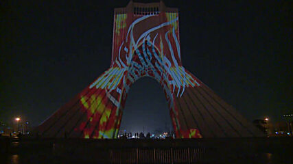 Tehran's Azadi Tower lightens up with 'Calligraphy Dance'