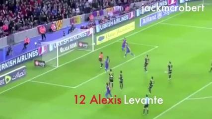 Всички асистенции на Lionel Messi
