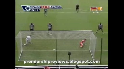 Ливърпул 3 : 0 Нюкасъл гол на Бенаюн