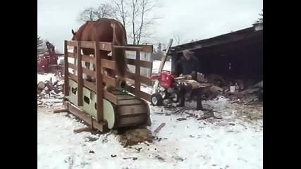 Цепене на дърва-руски вариант