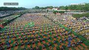 Индийският премиер - на йога с хиляди ентусиасти