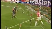 Манчестър Юнайтед 3 - 2 Байерн Мюнхен Нани Страхотен Техничен Гол *hq*