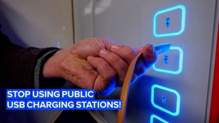 Think twice before using public charging stations