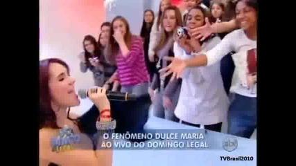 Domingo Legal - Dulce Maria canta No se parece 15 08 2010