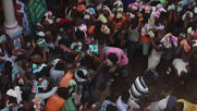 Never mind food fight, DUNG fight - thousands gather in central Indian village for ritual