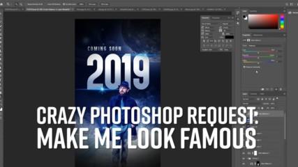 Photoshop Timelapse: Make me a movie star