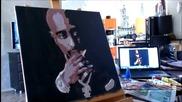 Надя рисува 2pac поп арт портрет