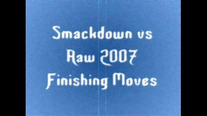 Smackdown Vs Raw 2007 Finishers
