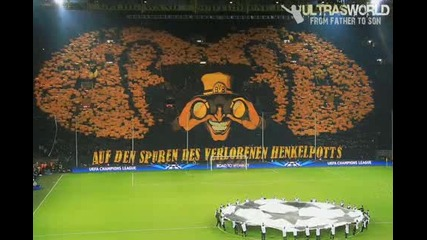 Dortmund vs Malaga - Bvb Ultras Amazing Choreo