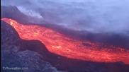Лава на хавайте снимана от хеликоптер
