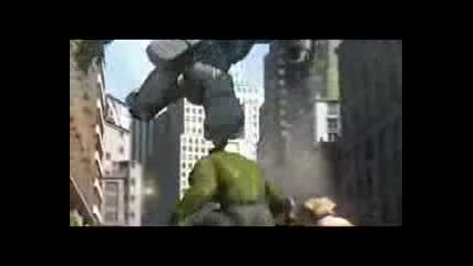 Spider - Man , Iron Man and The Incredible Hulk vs Giant Robots