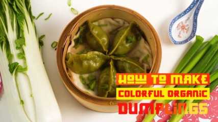 Get ready for Chinese New Year with green vegetarian dumplings!