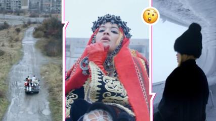 Рита Ора се появи с народна носия в квартал на Перник, снимала е и на Бузлуджа