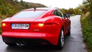 Jaguar F-Type S - Ускорение, Звук