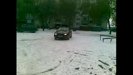 audi 100 2.16v quattro on snow