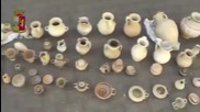 Italy: Police find 245 ancient Greek artefacts while searching for weapons