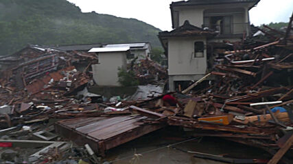 Japan: Kuma locals return to nearly destroyed homes in aftermath of severe floods