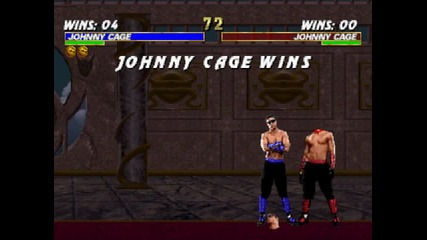 Mortal Kombat Trilogy - Johnny Cage - Fatality #1 - Psx