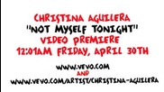 Кристина Агилера копира Lady Gaga в видеото си - Not Myself Tonight
