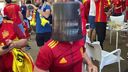 Spain: Fans sing their hearts out on streets of Seville ahead of Sweden clash