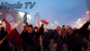 Полски хулигани против Антифа и A.c.a.b