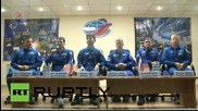 Russia: Expedition 44 crew hold briefing ahead of journey to ISS