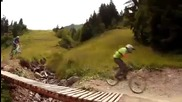 Air Voltage downhill in chatel (mtb park)