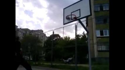 Off Teh backboard dunk