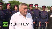 Germany: Russian Cossacks make it to Berlin after 2,500 km V-Day memorial march