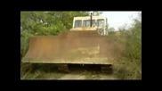 Трактор булдозер c-100 - видео от октомври 2014 (продава се!)