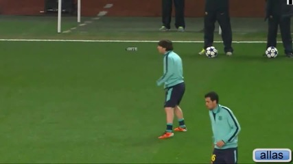 Messi funny moment in training