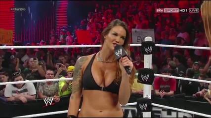 Wwe Raw [23.07.2012]- Lita vs. Heath Slater. Apa Return