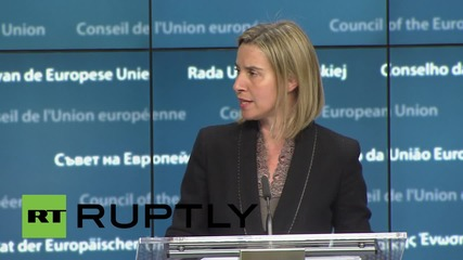 Belgium: EU has a military plan to target people smugglers on the Med - Mogherini