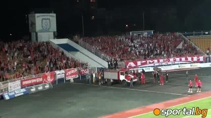Суперкупата Нахлули фенове празнуваха с Цска Супуркупата На България