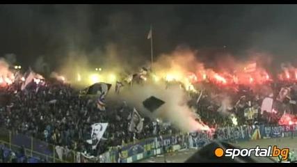 Уникалната хореография в сектор Б на мача Левски - Цска 26.02.2011
