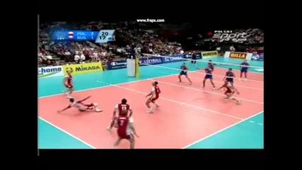 Bartosz Kurek and Jakub Jarosz in match Poland - Russia