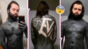 Това не е Photoshop! Този швейцарец покри цялото си тяло с мастило и се пусна в OnlyFans