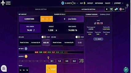 Стратегия За Дизи Casino Royale - Автоматичен 1.338x Метод - бюст Или Печеля (среден Риск)