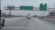 Замръзнали улици в Канзас Сити 1.2.2014