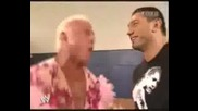 Ric Flair And Batista Backstage