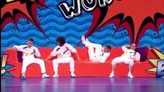 Акробати правят страхотно шоу в Британия търси таланти 2015