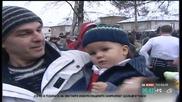 200 калоферци влязоха в ледената Тунджа, играха хоро и извадиха кръста