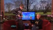 Justin Bieber си показа бельото в шоуто на Елън
