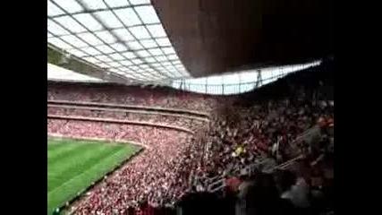 One day at the Emirates Stadium